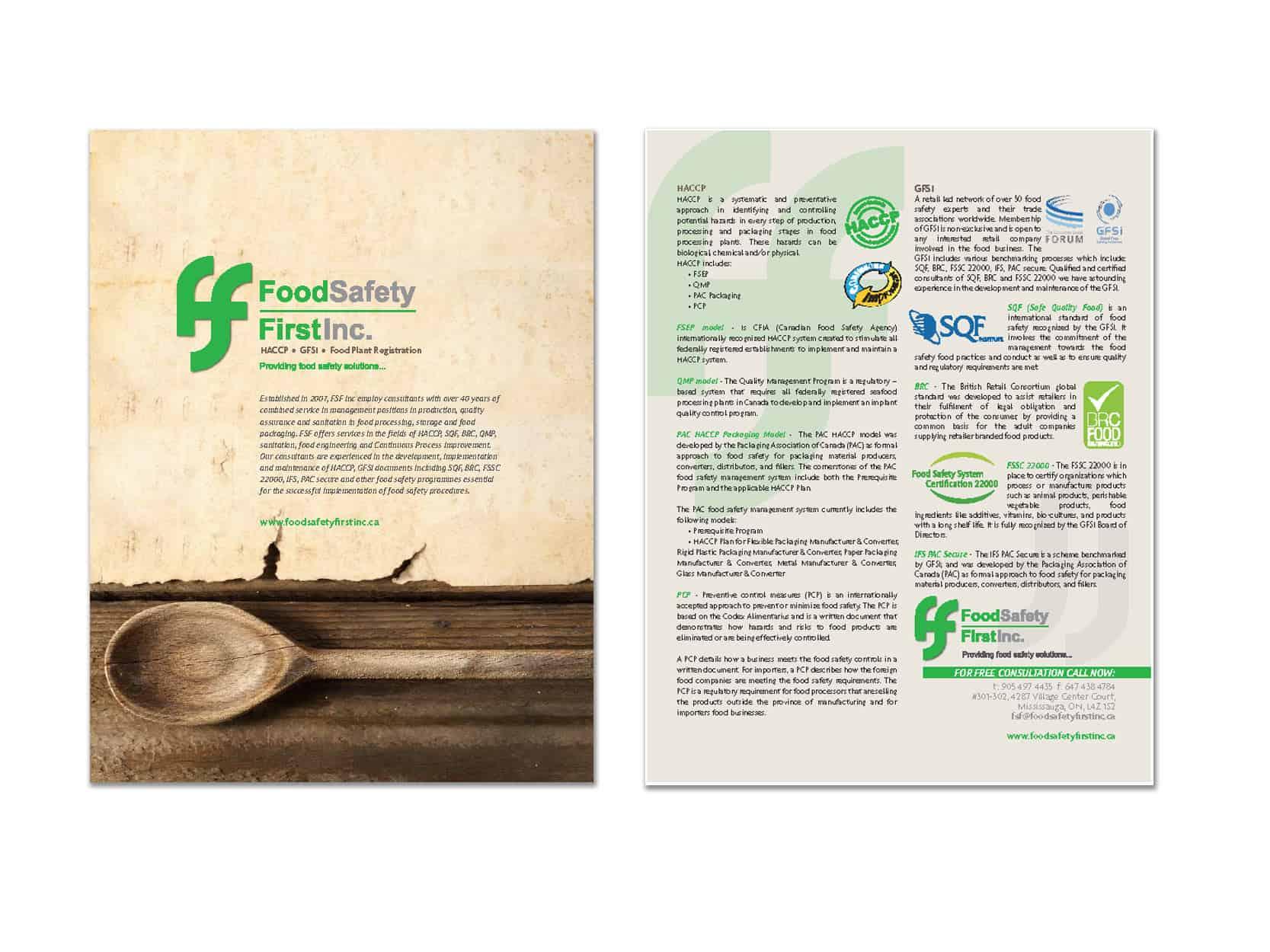 Food Safety First - Flyer Design - | Creative@Work Branding Agency